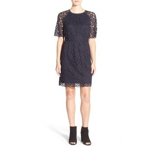 NWT Madewell Navy Lace Magnolia Dress
